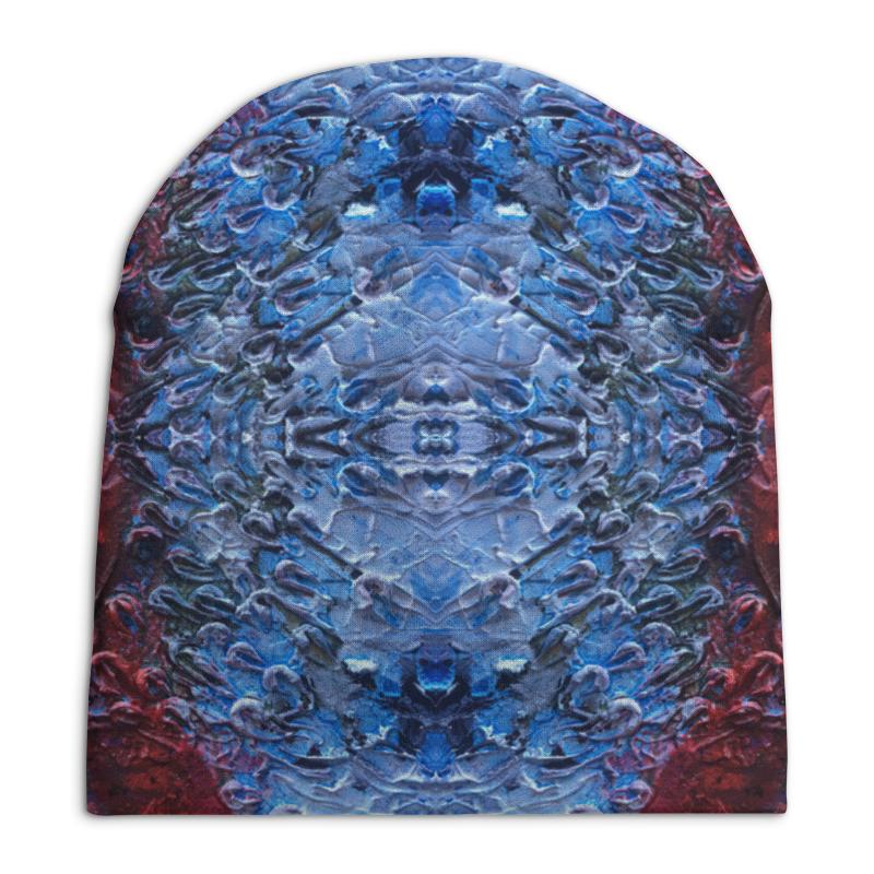 Шапка унисекс с полной запечаткой Printio Texture stylish trees landscape oil painting pattern square shape flax pillowcase without pillow inner