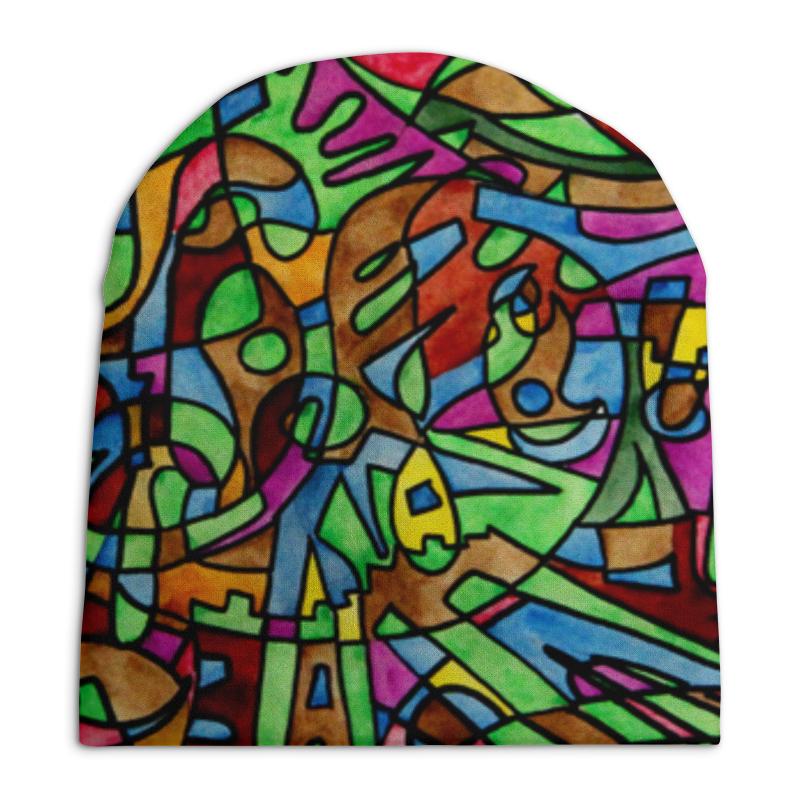 Шапка унисекс с полной запечаткой Printio S`s`s-0.w юбка карандаш printio s s s 0 w