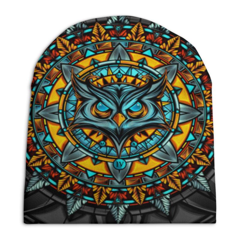 Шапка унисекс с полной запечаткой Printio Талисман сова фэнтэзи. свитшот унисекс с полной запечаткой printio цветная сова
