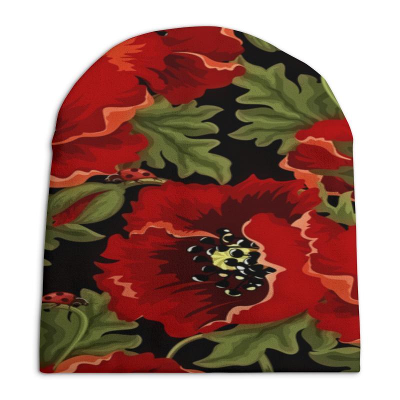 Шапка унисекс с полной запечаткой Printio Полевые маки шапка унисекс с полной запечаткой printio спиннер