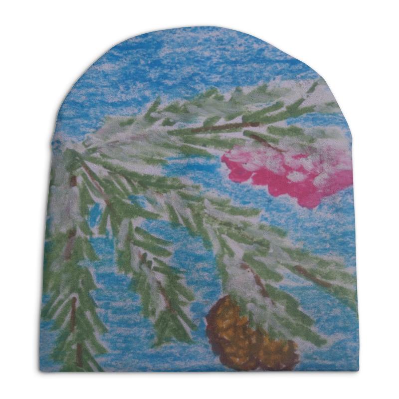 Шапка унисекс с полной запечаткой Printio Веточка ели vz 856подсвечник зимнее настроение 1 0 л