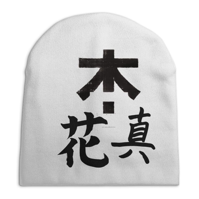 Шапка унисекс с полной запечаткой Printio Япония. минимализм футболка с полной запечаткой женская printio япония минимализм
