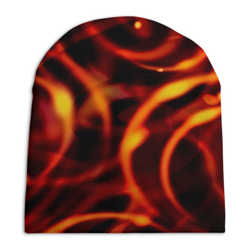 Шапка унисекс с полной запечаткой Printio Пламенный шапка унисекс с полной запечаткой printio цветочный рай