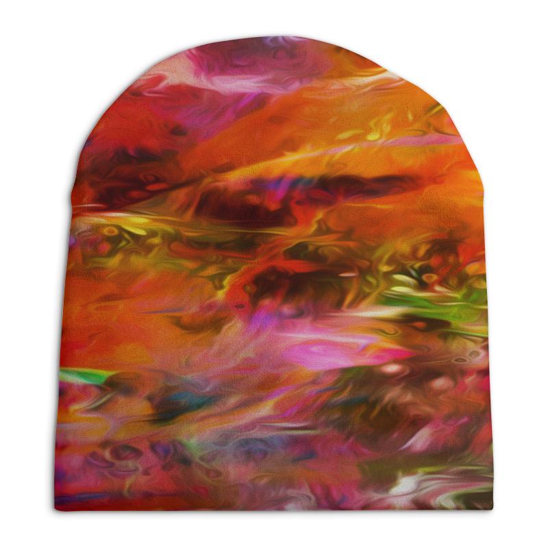 Шапка унисекс с полной запечаткой Printio Разноцветные краски printio шапка унисекс с полной запечаткой