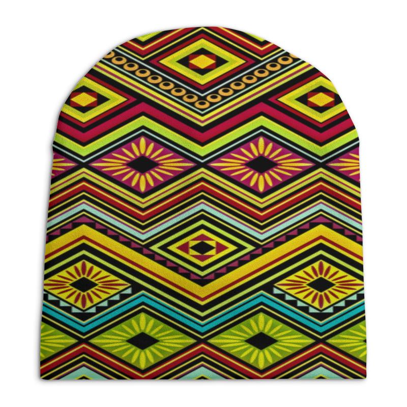 все цены на Шапка унисекс с полной запечаткой Printio Узор многоцветный