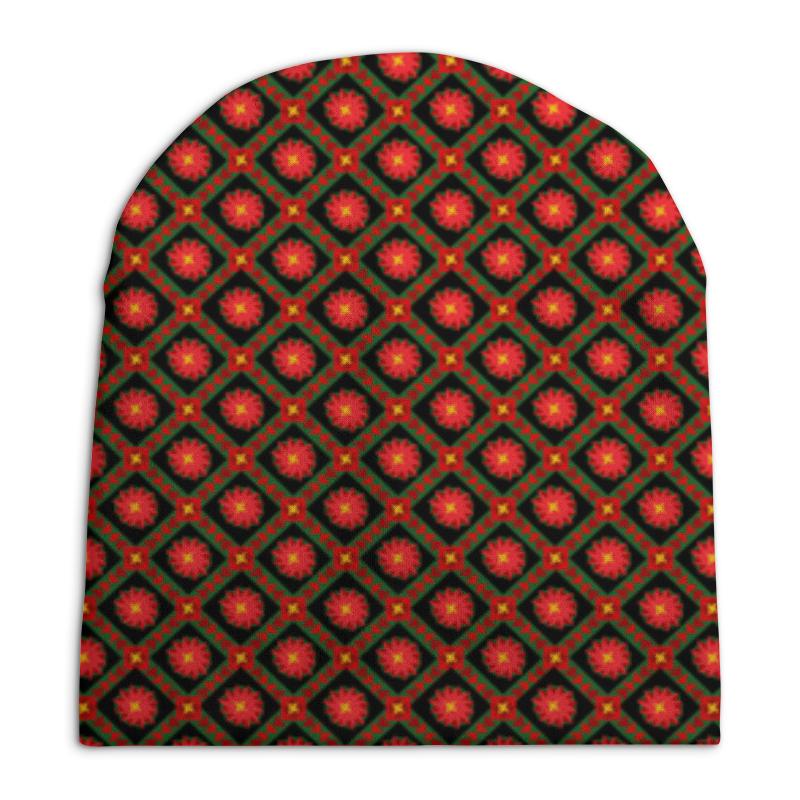 Шапка унисекс с полной запечаткой Printio Темный геометрический узор шапка унисекс с полной запечаткой printio геометрический узор