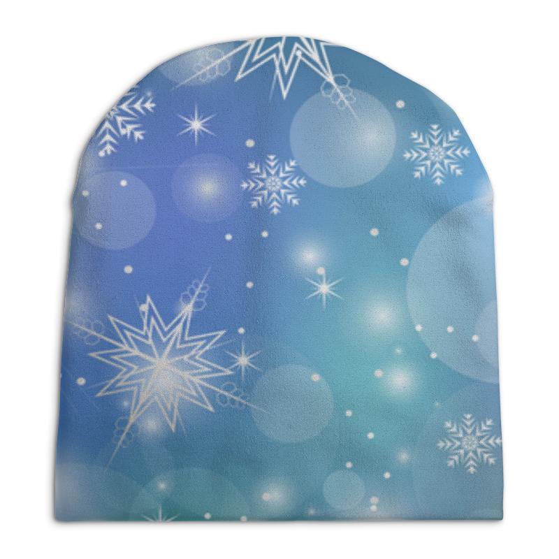 Шапка унисекс с полной запечаткой Printio Снежинка