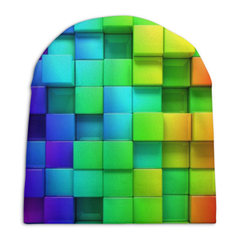 Шапка унисекс с полной запечаткой Printio Кубики кубики мди