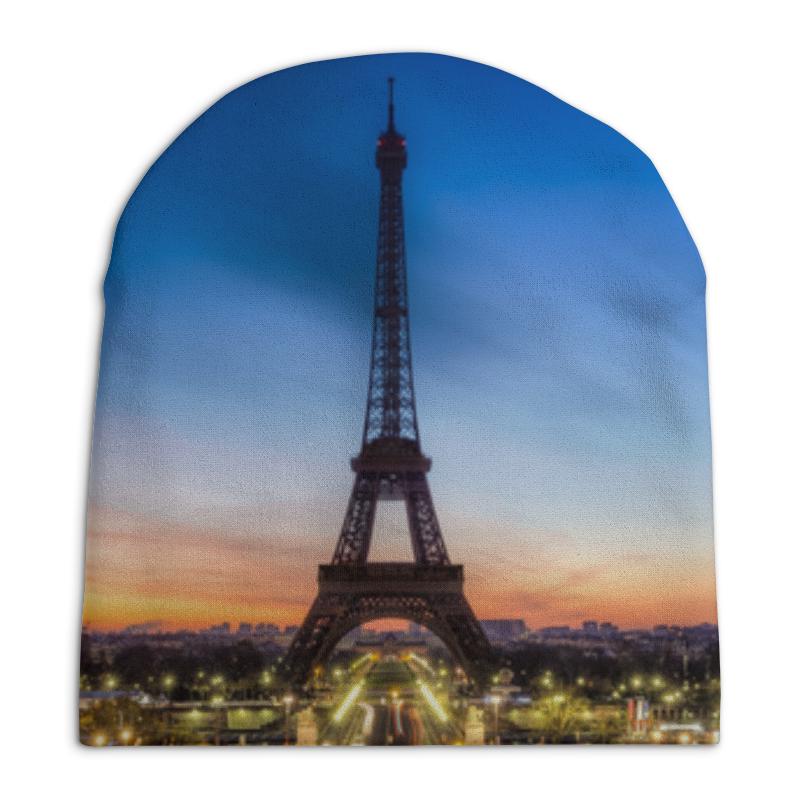 Шапка унисекс с полной запечаткой Printio Париж цена
