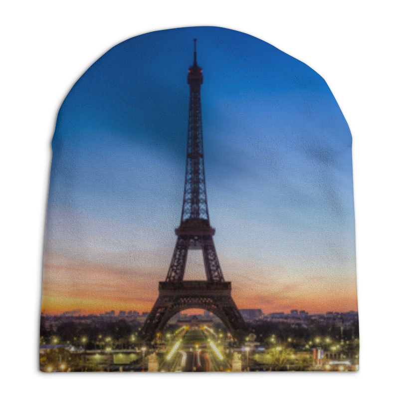 Шапка унисекс с полной запечаткой Printio Париж шапка унисекс с полной запечаткой printio texture