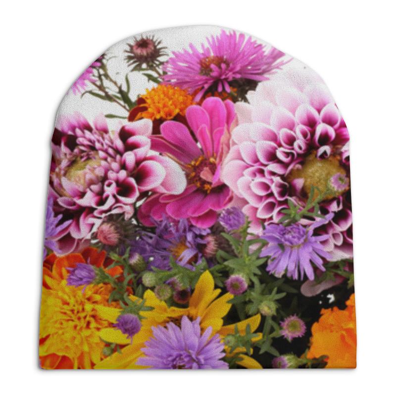 Фото - Шапка унисекс с полной запечаткой Printio Цветы свитшот унисекс с полной запечаткой printio алфавит