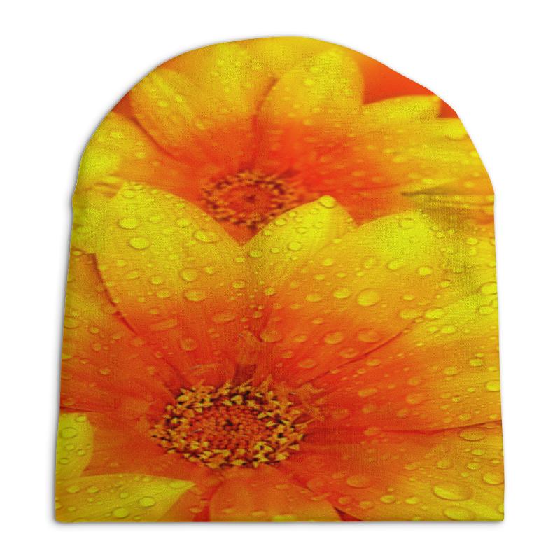 Шапка унисекс с полной запечаткой Printio Желтые цветы шапка унисекс с полной запечаткой printio спиннер