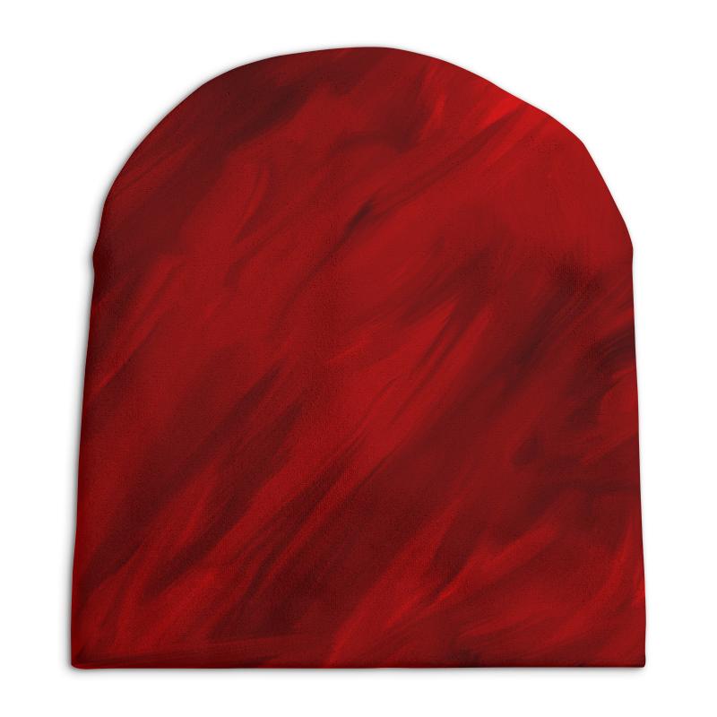 Шапка унисекс  полной запечаткой Printio Красные краски