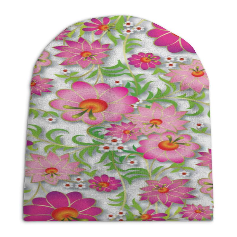 Шапка унисекс с полной запечаткой Printio Розовые цветы printio шапка унисекс с полной запечаткой