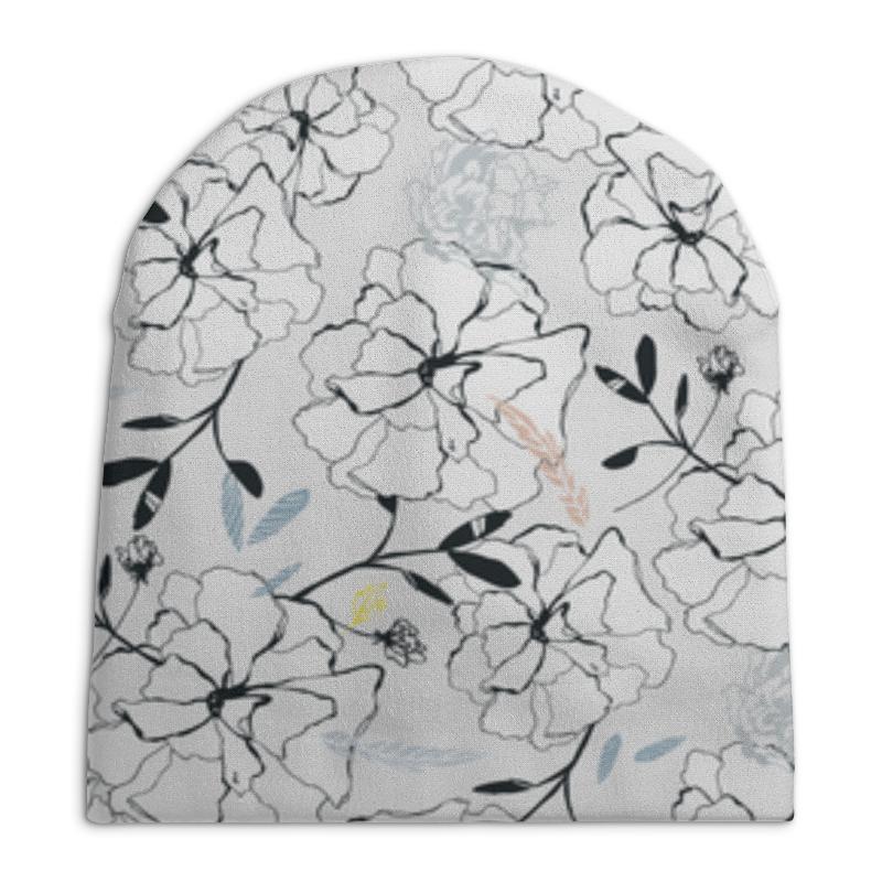 Шапка унисекс с полной запечаткой Printio Цветы шапки little flo шапка цветы