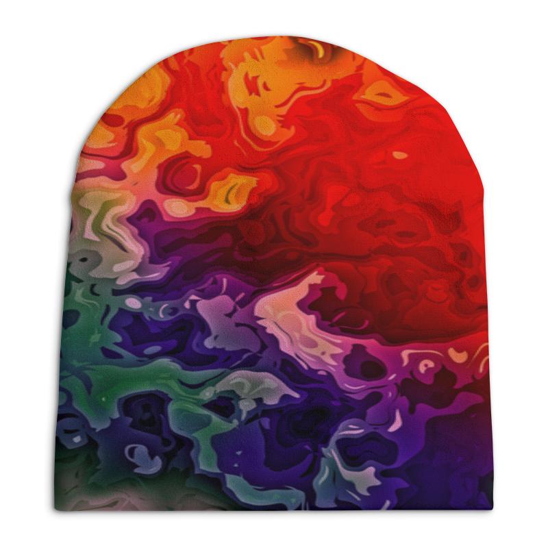 Шапка унисекс с полной запечаткой Printio Цветные краски шапка унисекс с полной запечаткой printio спиннер