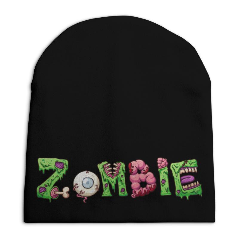 Шапка унисекс с полной запечаткой Printio Zombie свитшот унисекс с полной запечаткой printio rock zombie