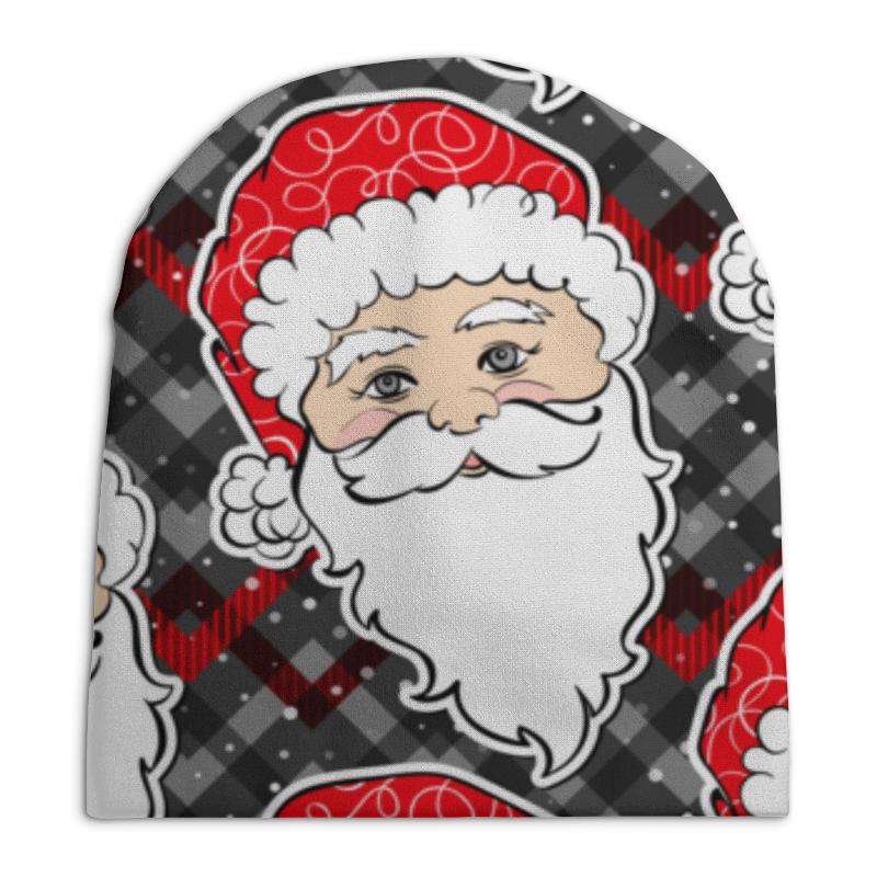 Printio Дед мороз новый год шапка карнавальная дед мороз с волосами цвет красный 2266102