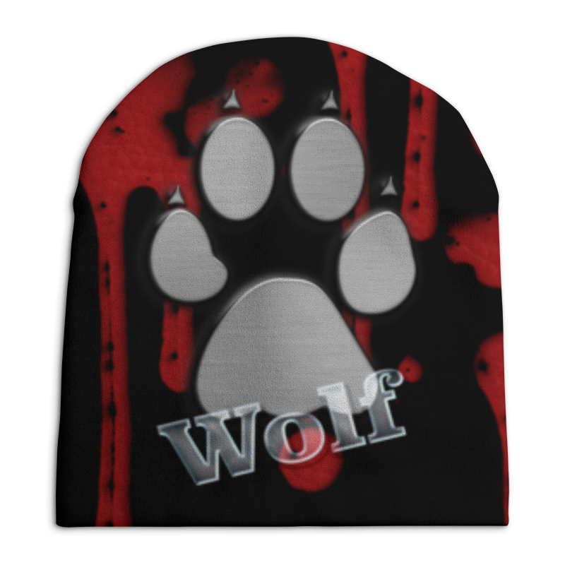 Шапка унисекс с полной запечаткой Printio Лапа волка цена