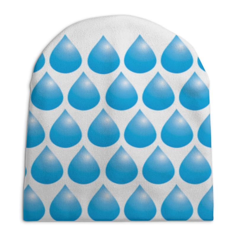 Шапка унисекс с полной запечаткой Printio Капли дождя толстовка с полной запечаткой printio сердце капли дождя любовь