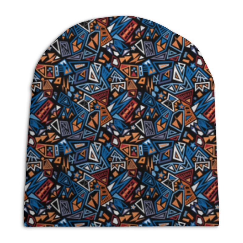 Шапка унисекс с полной запечаткой Printio Модный и стильный геометрический паттерн шапка унисекс с полной запечаткой printio геометрический узор