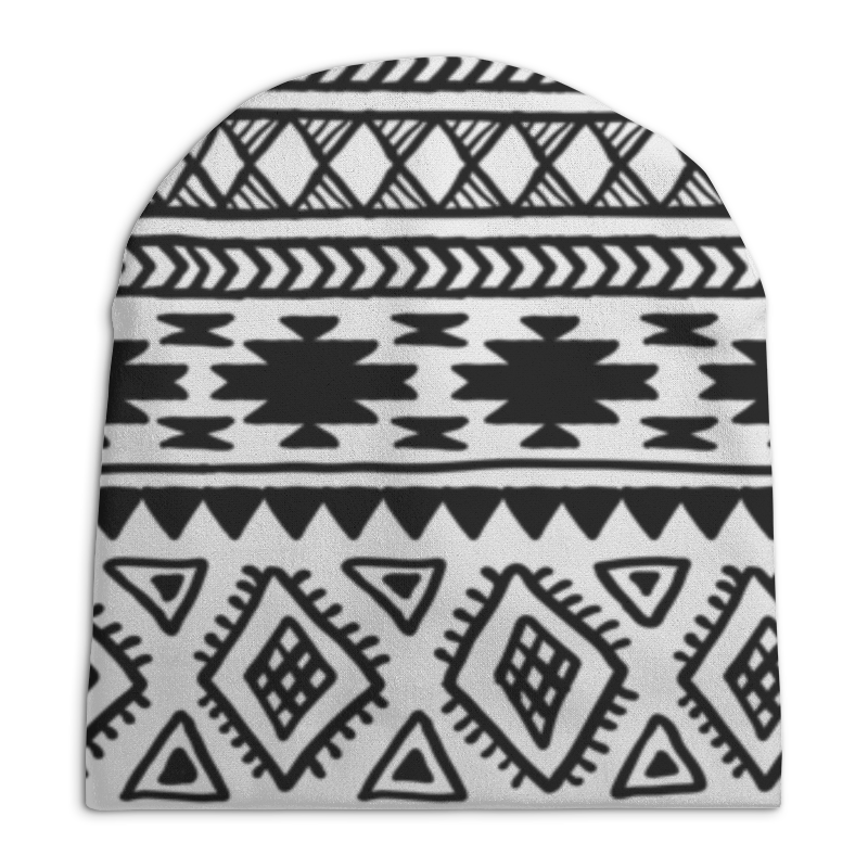 Шапка унисекс с полной запечаткой Printio Этнический узор шапка унисекс с полной запечаткой printio геометрический узор