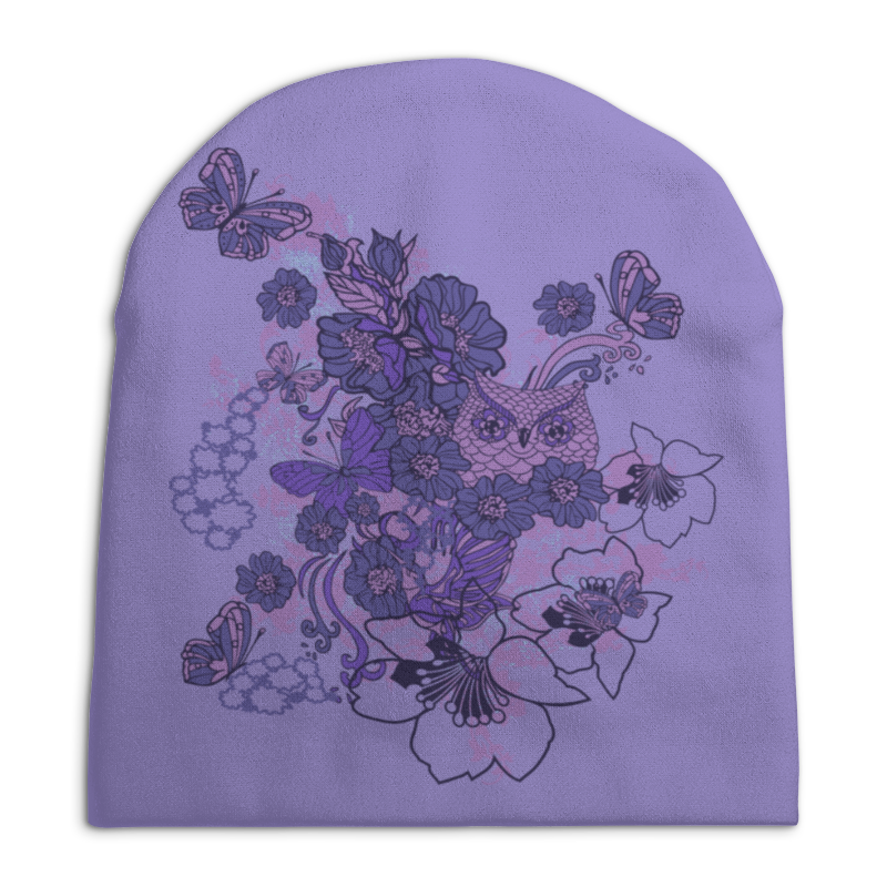 Шапка унисекс с полной запечаткой Printio Сова в цветах шапка унисекс с полной запечаткой printio закат в ялте айвазовский