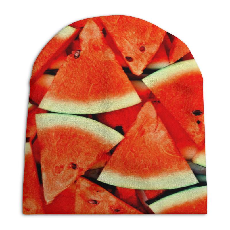 Шапка унисекс с полной запечаткой Printio Сочный арбуз рубашка поло с полной запечаткой printio сочный арбуз