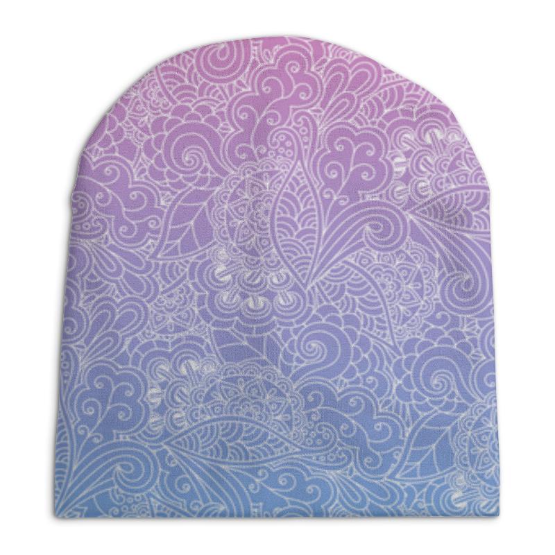 Шапка унисекс с полной запечаткой Printio Узор с градиентом шапка унисекс с полной запечаткой printio геометрический узор