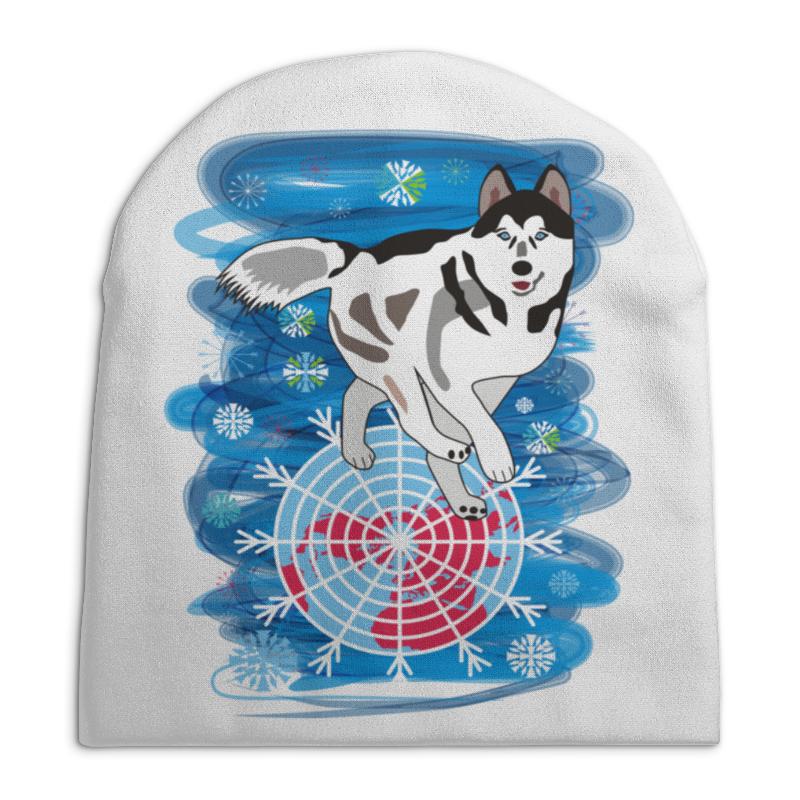 Шапка унисекс с полной запечаткой Printio Бегущая по снегам бегущая строка светодиодная дешево