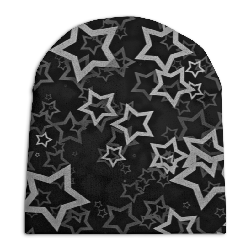Шапка унисекс с полной запечаткой Printio Звезды свитшот унисекс с полной запечаткой printio звезды