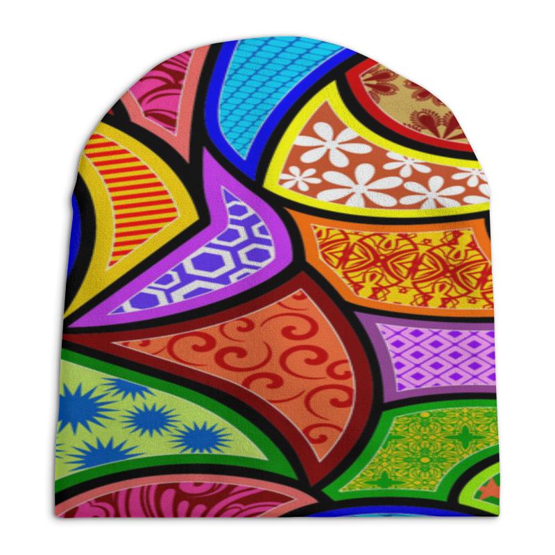 Шапка унисекс с полной запечаткой Printio Калейдоскоп узоры разноцветные.
