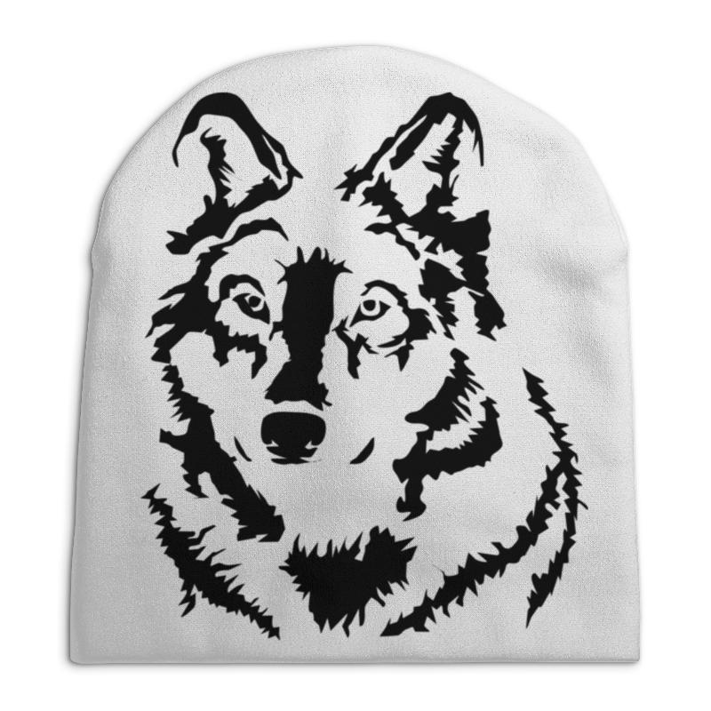 Шапка унисекс с полной запечаткой Printio Тату волк слюнявчик printio тату волк