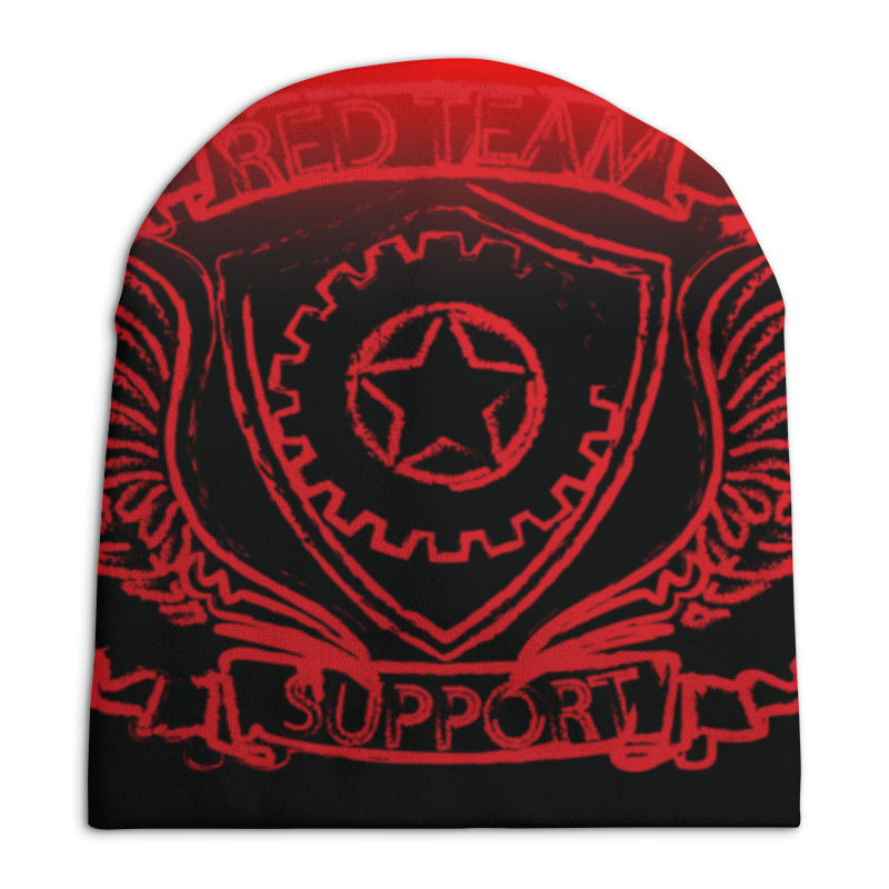 Шапка унисекс с полной запечаткой Printio Red team gbtiger red