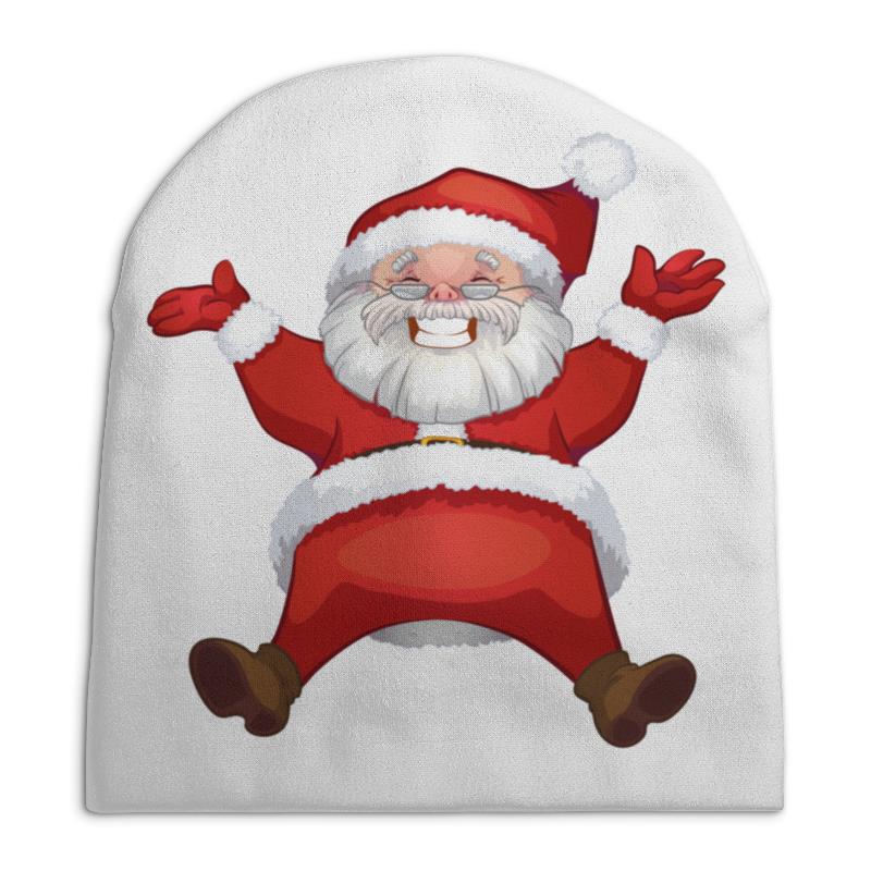 Шапка унисекс с полной запечаткой Printio Санта клаус сумка с полной запечаткой printio санта клаус