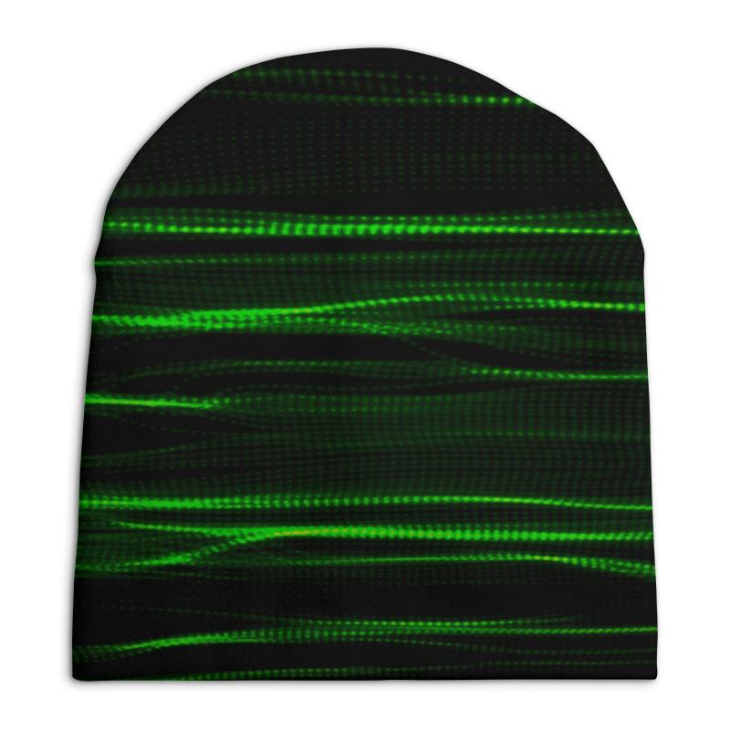 Шапка унисекс с полной запечаткой Printio Зеленые линии юбка в складку printio зеленые линии
