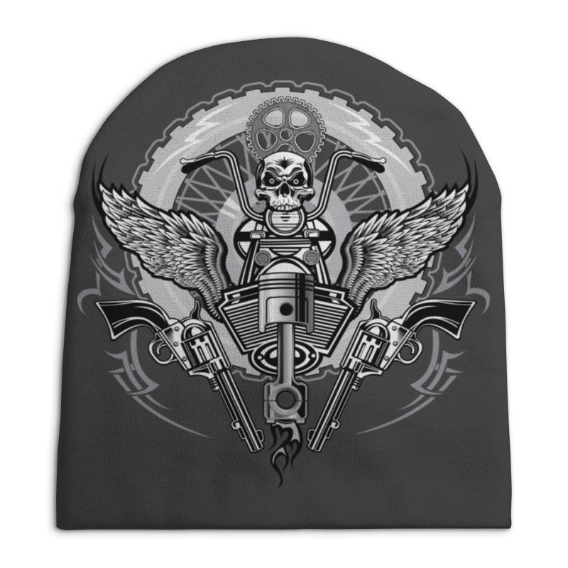 Шапка унисекс с полной запечаткой Printio Байкер свитшот унисекс с полной запечаткой printio байкер