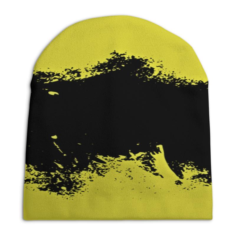 Шапка унисекс с полной запечаткой Printio Черно-желтые краски юбка карандаш укороченная printio черно желтые краски