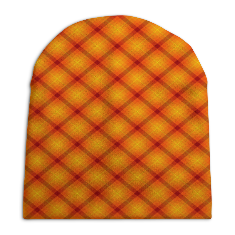 Шапка унисекс с полной запечаткой Printio Клетка оранжевая футболка с полной запечаткой женская printio клетка оранжевая