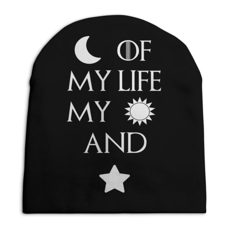 Шапка унисекс с полной запечаткой Printio Луна, солнце и звезды шапка классическая унисекс printio луна солнце и звезды
