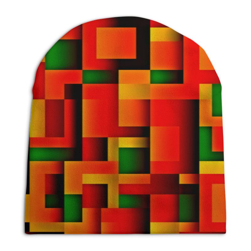 Шапка унисекс с полной запечаткой Printio Орнамент графический графический дизайн