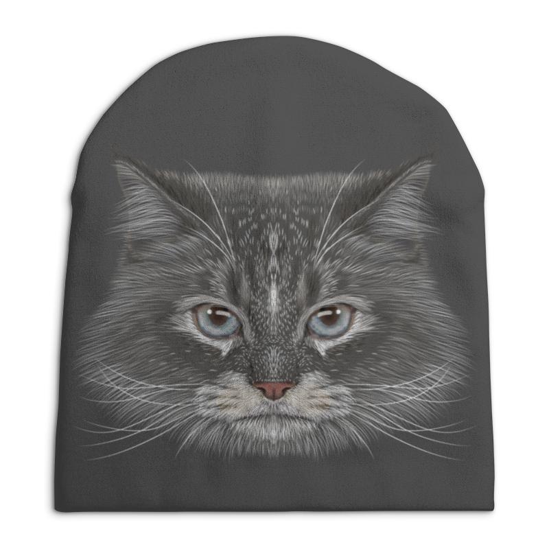 Фото - Printio Котик шапка унисекс с полной запечаткой printio котик