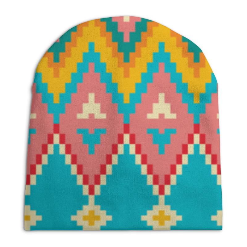 Шапка унисекс с полной запечаткой Printio Этнический узор шапка унисекс с полной запечаткой printio спиннер
