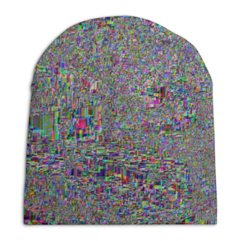 Шапка унисекс с полной запечаткой Printio Глитч цена