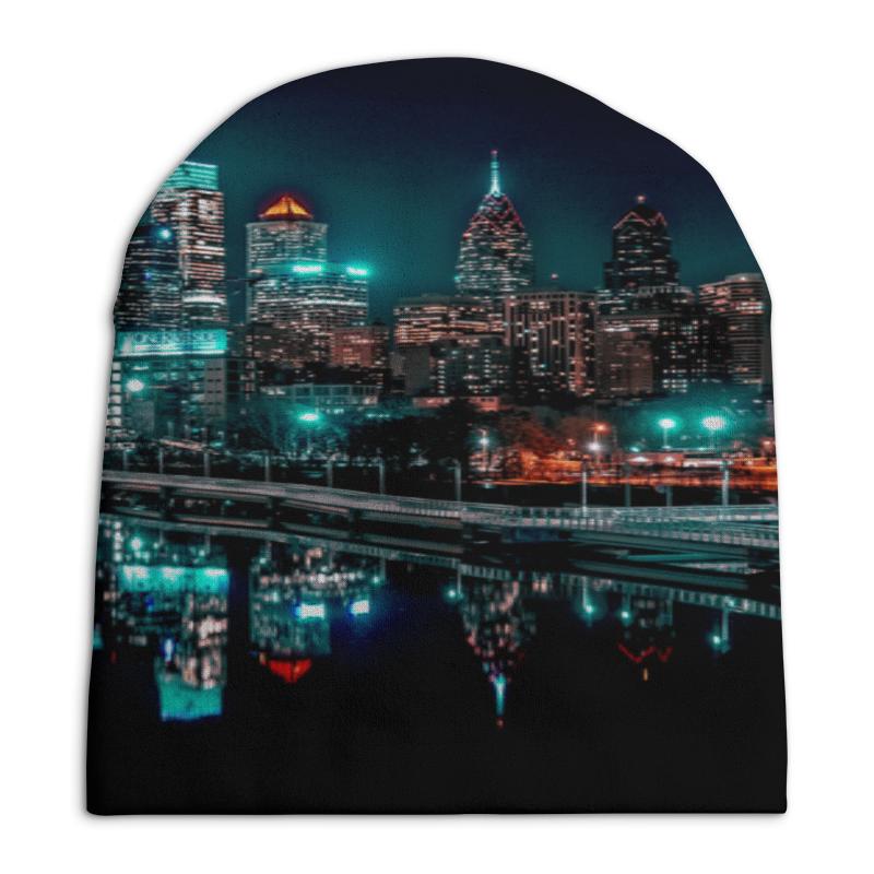 Шапка унисекс с полной запечаткой Printio Ночные огни шапка унисекс с полной запечаткой printio спиннер