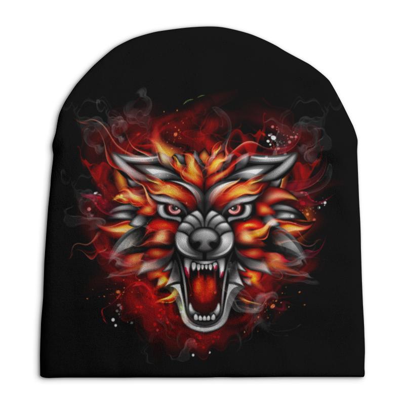 Шапка унисекс с полной запечаткой Printio Wolf & fire футболка с полной запечаткой мужская printio fire on fire