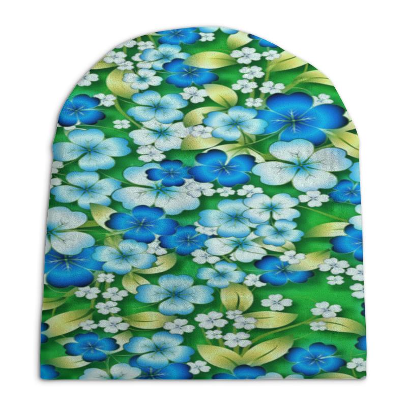 Шапка унисекс с полной запечаткой Printio Весенние цветы
