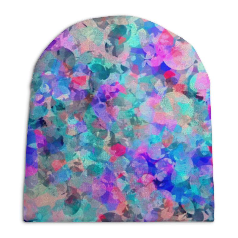 Шапка унисекс с полной запечаткой Printio Разноцветные пятна.