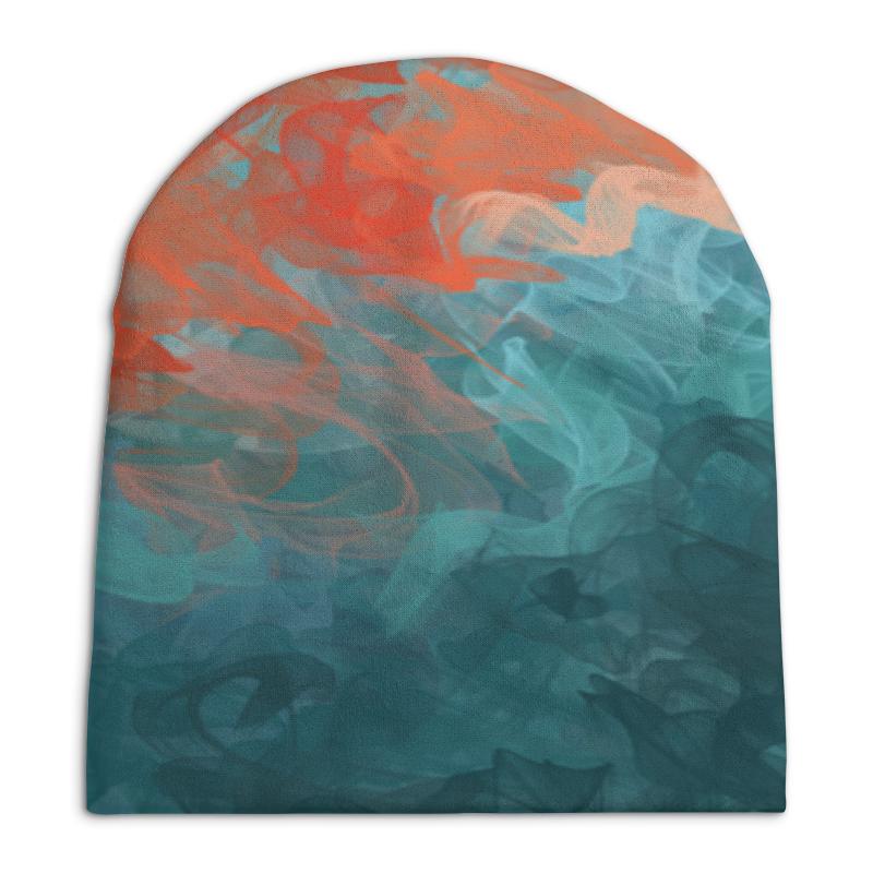 цена Шапка унисекс с полной запечаткой Printio Абстрактный градиентный дизайн. дигитал акварель в интернет-магазинах