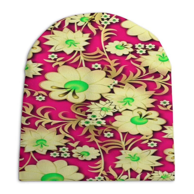 Шапка унисекс с полной запечаткой Printio Цветочный узор шапка унисекс с полной запечаткой printio цветочный рай